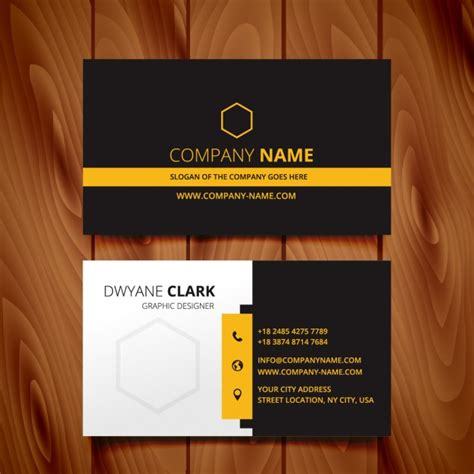 id card design orange black dark business card modern design vector free download
