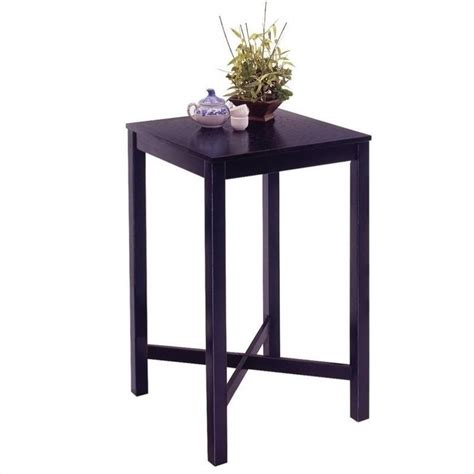 Black Bar Table Black Solid Wood Pub Table 5982 35