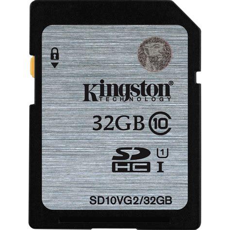 kingston 32gb uhs i sdhc memory card class 10 sd10vg2