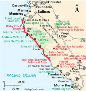 big sur map california ca coast highway 1 big sur