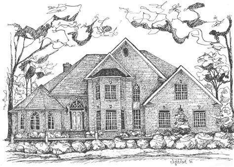 houses drawings draw house jpeg home plans blueprints 24430