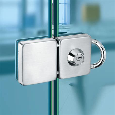 Double Glass Door Lock 304 Stainless Steel Single Open Glass Door Lock
