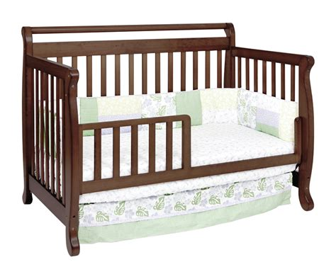 Baby Convertible Cribs Davinci Emily 4 In 1 Convertible Baby Crib In Espresso W Toddler Rail M4791q