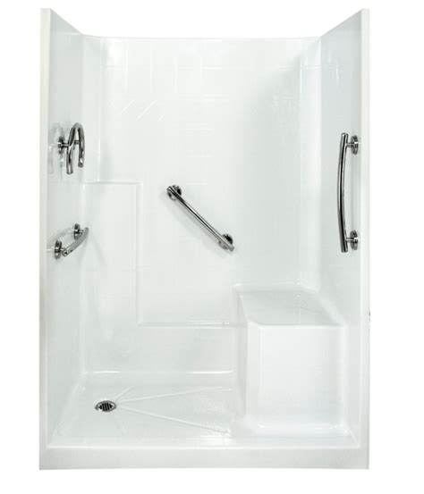 Left Drain Shower Kit by 5 3 Shower Stall Free Living Series