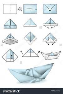 Paper Boat Steps - origami turn a paper boat into an awesome pirate ship