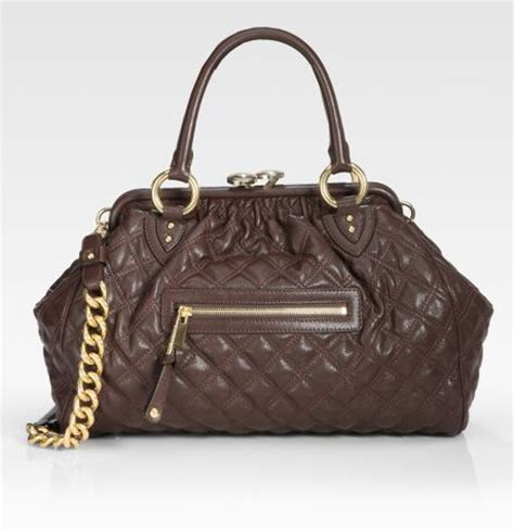 Marc Quilted Fabric Stam Bag by Marc Classic Quilted Stam Bag In Brown Brown