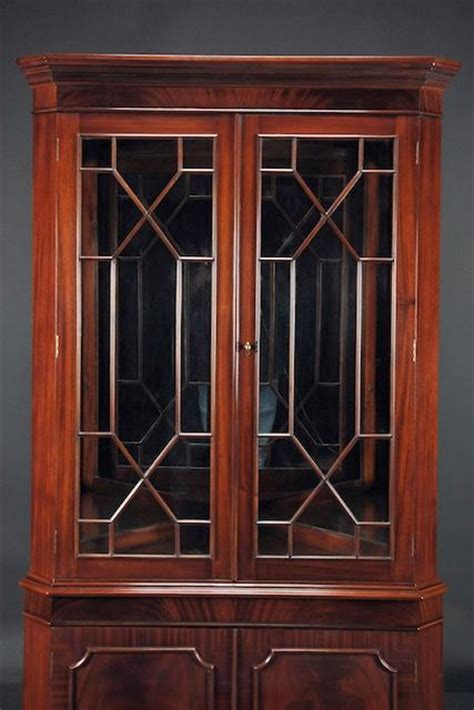 Corner China Cabinet For Dining Room High End Mahogany Corner China Cabinet For Traditional