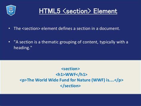 html5 sectioning elements html5 semantics