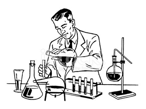 Earth Contact Home Designs Scientist Working In The Lab Stock Vector Freeimages Com
