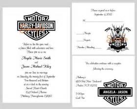 100 personalized custom harley davidson motorcycle bridal wedding invitations ebay
