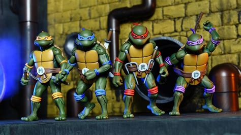 tmnt 2 figures nickalive neca unveils quot mutant turtles