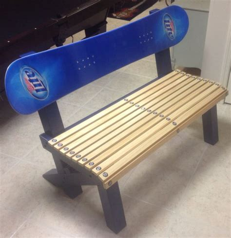 bench snowboard snowboards miller lite and wood benches on pinterest