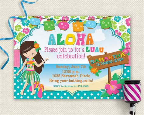 luau invitation luau birthday invitation luau luau