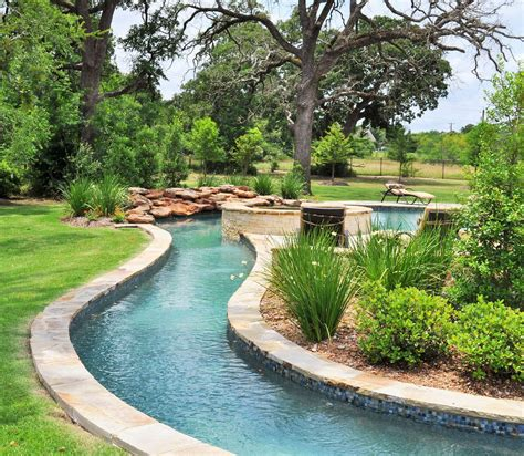lazy river in your backyard home decor