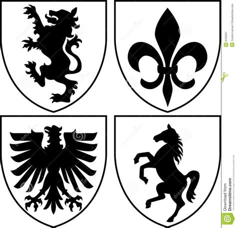 design free coat of arms heraldic crests coat of arms eps royalty free stock