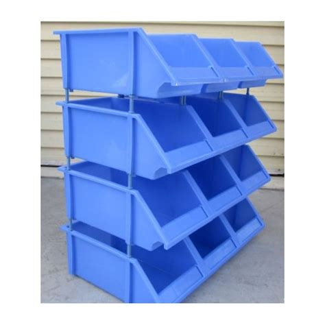stackable plastic bins storage ideas
