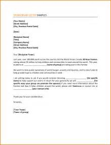 Cover Letter Sponsorship by Sle Letter For Concert Sponsorship Sponsorship Letterexle Of A 10