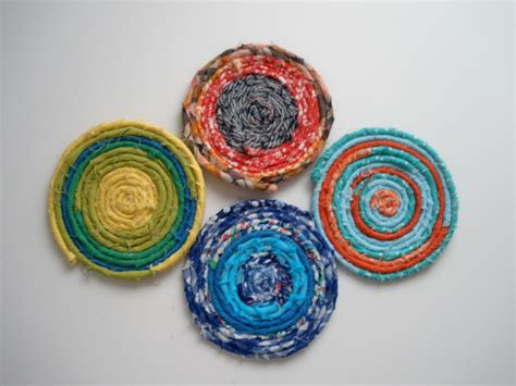 fabric crafts handmade fabric scrap coasters craft stash bash 11 handmade by