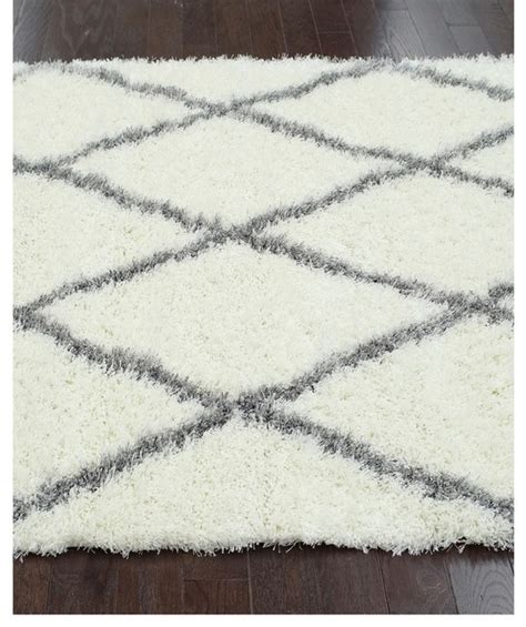 Gray And White Trellis Rug by Nuloom Rug Moroccan Trellis Shag Rug Gray