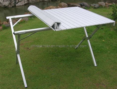fold up picnic bench cing table folding aluminum portable bench roll up