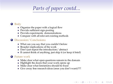 parts of research paper parts of research paper