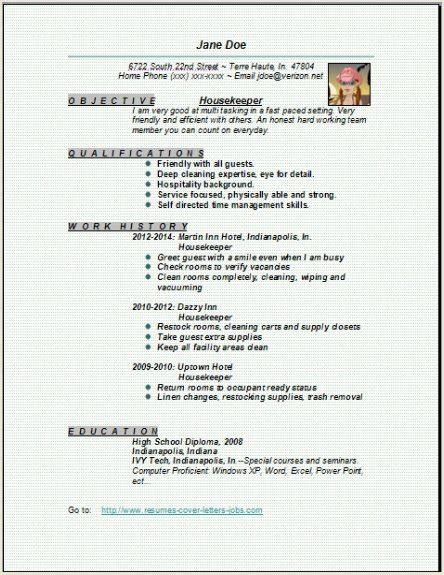 Housekeeping Resume Template by Housekeeper Resume Exles Sles Free Edit With Word