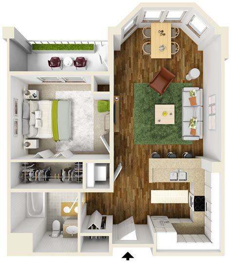 Two Bedroom Two Bath Floor Plans by One Bedroom Apartment Floor Plans Queset Commons