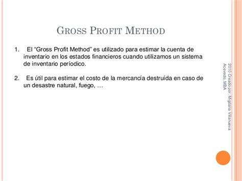 Gross Profit Mba by Otros Metodos De Inventario