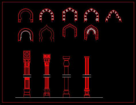 arabic pattern cad block this is a 2d cad template for islamic architecture