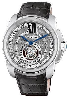 Bvlgari Flying Tourbillon Leather Black For cartier w7100003 calibre de cartier s