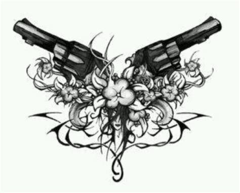 crossed revolvers tattoo pistols crossed pistols