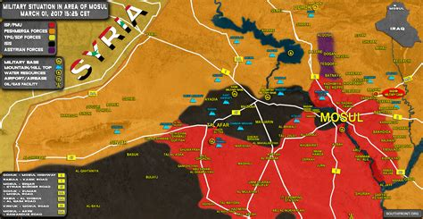 Military Situation In Area Of Mosul On March 1, 2017 ... Iraq 2017