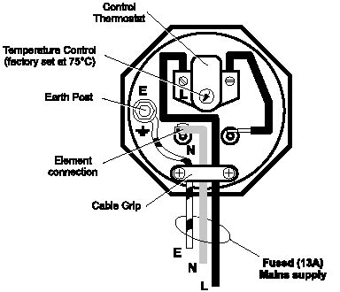 immersion heater thermostat wiring diagram 3kw immersion