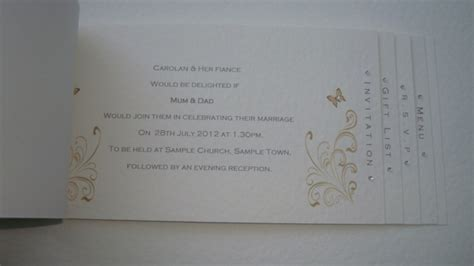 wedding invitations book cheque book style wedding invitation handmade gold sle