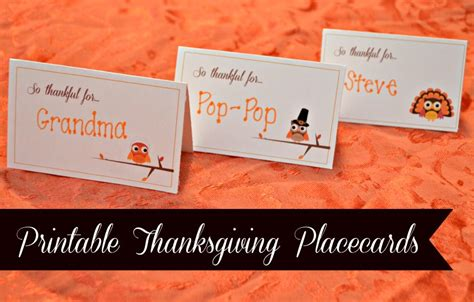 Free Place Card Templates For Thanksgiving by Free Printable Thanksgiving Place Cards Templates Happy
