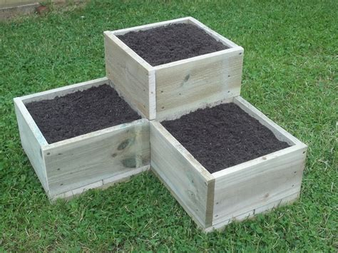 How To Build A Tiered Garden Box Ebay Vegetable Box Garden