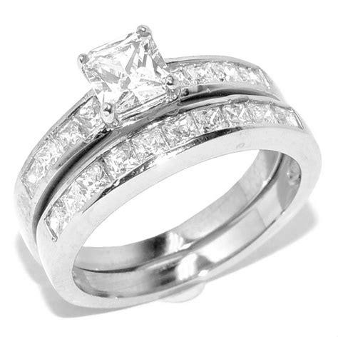 princess cut wedding ring sets princess cut