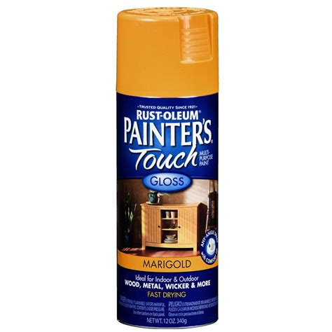 spray painter lowes shop rust oleum 12 oz marigold gloss spray paint at lowes