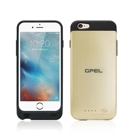 iphone  wireless qi charging extended battery case gpel