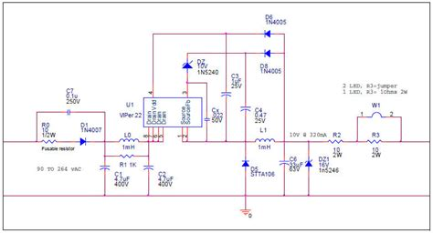 a capacitor isolated led driver with inherent current balance capability air compressor wiring diagrams air free engine image for user manual