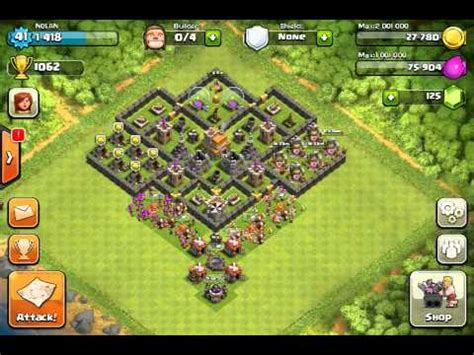 clash of clans layout strategy level 7 clash of clans great level 7 town hall defense strategy