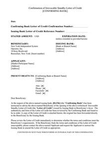 Td Bank Letter Of Credit Confirming Bank Letter Of Credit Docoments Ojazlink
