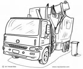 garbage truck coloring page garbage truck coloring page crayon coloring pages