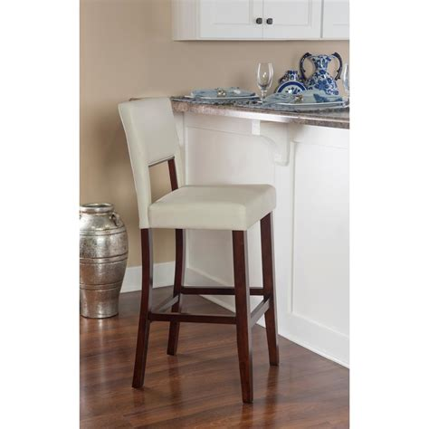 linon home decor bar stools linon home decor milano 30 in cream cushioned bar stool