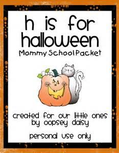 halloween activities for preschoolers h is for halloween packet oopsey daisy