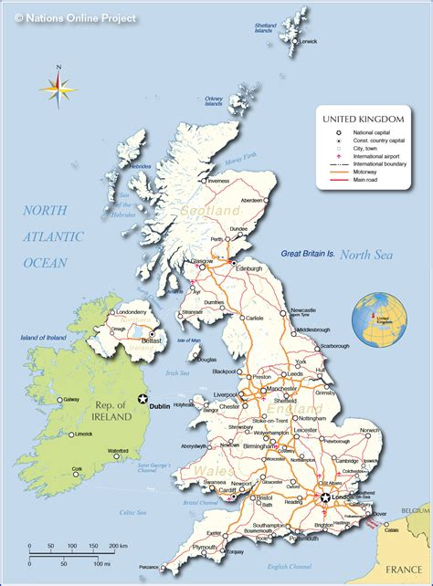 map of the united kingdom with major cities political map of united kingdom nations project