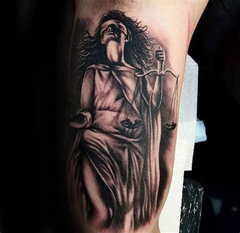 lady justice tattoo 40 justice designs for impartial scale ideas