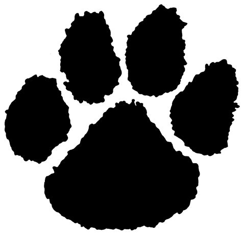 how to your to paw how to draw a tiger paw print cliparts co