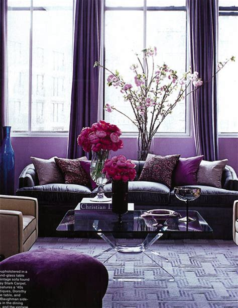 Purple Living Room Decor Violet Grey Decor Feng Shui Color The Tao Of