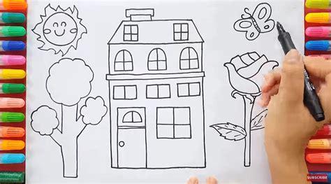 tutorial menggambar untuk anak sd menggambar villa dengan mudah untuk anak sd sekolah dasar